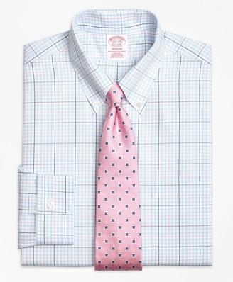 Brooks Brothers Madison Classic-Fit Dress Shirt, Non-Iron Alternating Overcheck