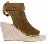 Loeffler Randall Suede Espadrille Wedge Sandals