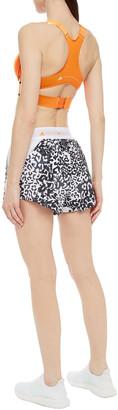 adidas by Stella McCartney Mesh-paneled Leopard-print Shell Shorts