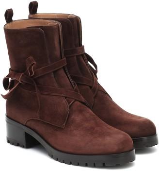 Aquazzura Aria suede ankle boots