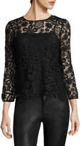 Armani Exchange Women's Embroidery Lace Top