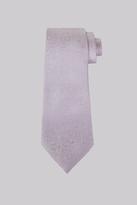 Moss Bros Lilac Floral Silk Tie