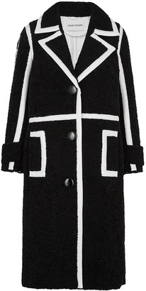 Kenzie Stand Studio Black Faux Shearling Coat