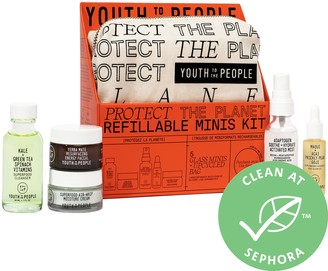 YOUTH TO THE PEOPLE Protect the Planet: 5 Refillable Glass Minis
