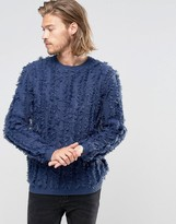 Asos Jumper With All Over Tassel Knit
