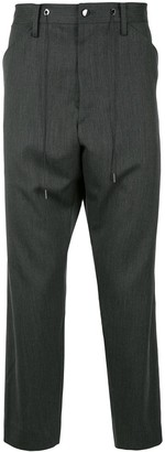 Fumito Ganryu Drop-Crotch Tapered Trousers