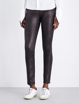 Paige Hoxton shimmer skinny high-rise jeans