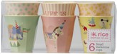 Rice Set of 6 Girls Circus Cups