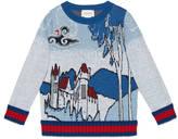 Gucci Children's castle pattern sweater
