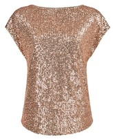 Dorothy Perkins Womens Breast Cancer Care Rose Gold Sequin T