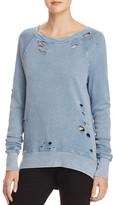 Pam & Gela Destroyed Annie High/Low Sweatshirt