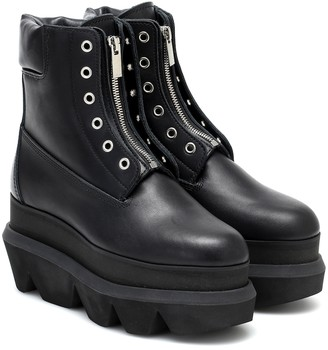 Sacai Leather ankle boots
