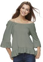 Juniors' Cloud Chaser High-Low Off The Shoulder Top
