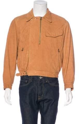 Giorgio Armani Leather Moto Jacket