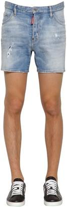 DSQUARED2 26.5cm Dan Commando Cotton Denim Shorts