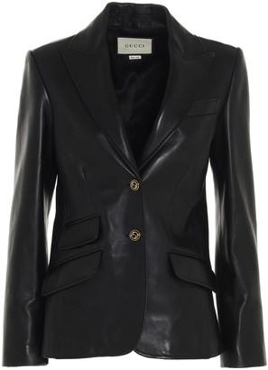 Gucci Plonge Leather Jacket