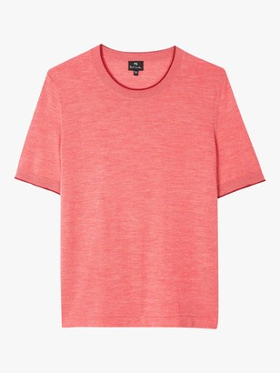 Paul Smith Short Sleeve Jumper, Coral