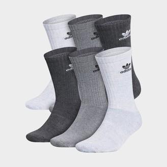 adidas Trefoil 6-Pack Cushioned Crew Socks