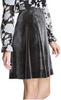 Joe Fresh Women's Velvet Skirt, Dark Grey (Size M)