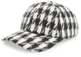 Amici Accessories Women's Houndstooth Ball Cap - Black