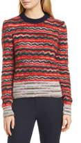 Tory Burch Metallic Stripe Sweater