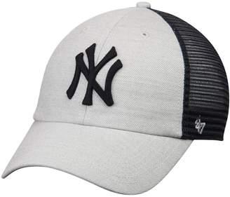 New York Yankees Unbranded Men's '47 Gray/Navy Tamarac Clean Up Snapback Adjustable Hat