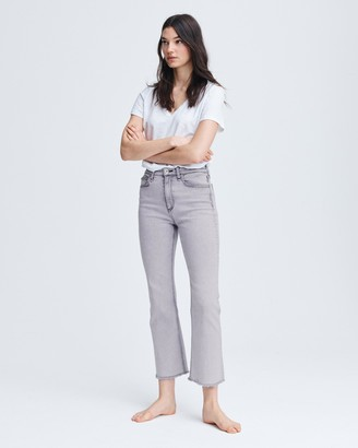 Rag & Bone Nina high-rise flare - marble white