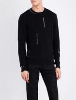 Alexander McQueen Eyelet wool and cashmere-blend jumper