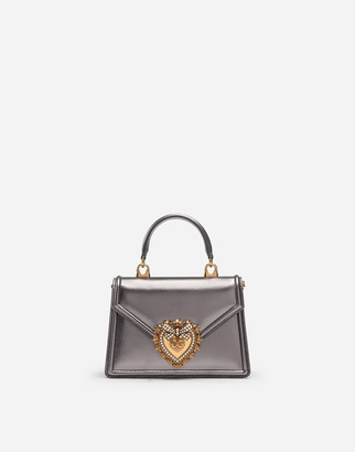 Dolce & Gabbana Small Devotion Bag In Mordore Nappa Leather