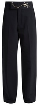 Toga Frog-embellished straight-leg twill trousers