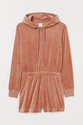 H&M Velour Jumpsuit - Orange
