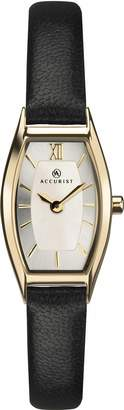 Accurist Womens Analogue Classic Quartz Watch with Leather Strap 8275