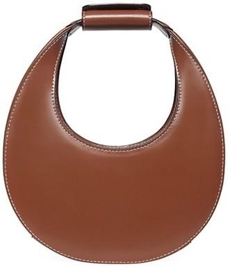 STAUD Mini Moon Leather Hobo Bag