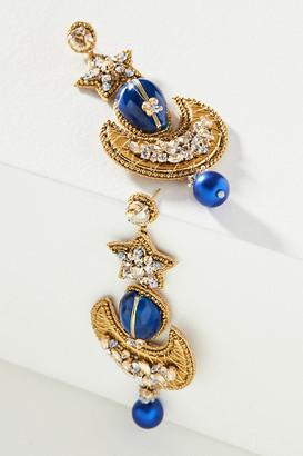 Deepa Keyla Drop Earrings By Deepa in Blue