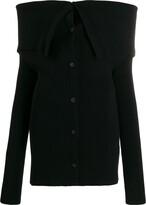 Unravel Project cold-shoulder ribbed jumper