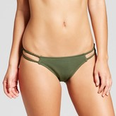 Xhilaration Women's Macramé Strap Textured Bikini Bottom