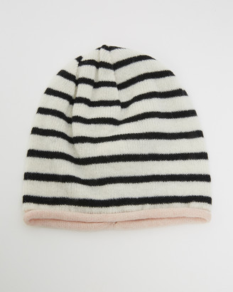 Kate & Confusion - Women's White Hats - Rugby Stripe Beanie - Size One Size at The Iconic
