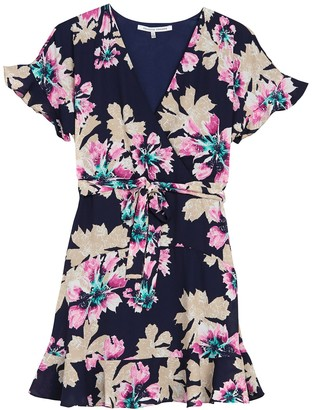 Collective Concepts Floral Ruffled Wrap Dress