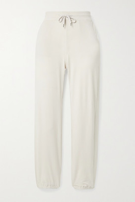 James Perse Brushed-jersey Track Pants - Off-white