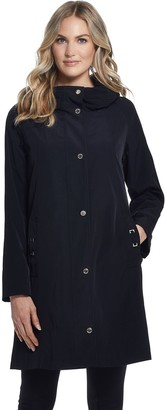 Gallery Women's Hooded Midweight Raincoat
