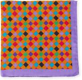 Bugatchi Multicolor Checkered Silk Pocket Square