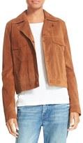 Vince Women's Suede Jean Moto Jacket