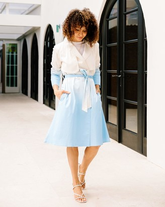 The Drop Women's Airy Blue Ombre Print Trench Coat by @scoutthecity S