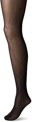 Maidenform Women's Sexy Shaping Hosiery-60 Den Tummy Flattener Panty Tights, 60 DEN, Black), L
