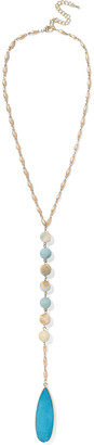Kenneth Jay Lane Gold-tone, Bead And Stone Necklace