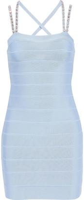 Herve Leger Crystal-embellished Bandage Mini Dress