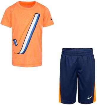 Nike Boys 4-7 Logo Graphic Tee & Shorts Set