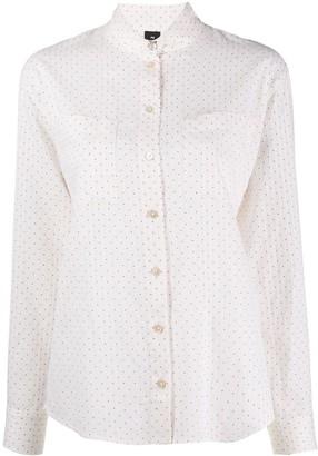 Paul Smith mandarin collar polka dot print shirt