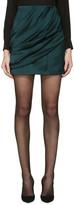 Balmain Green Draped Skirt