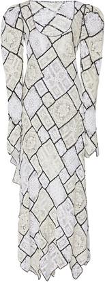 Prabal Gurung Patchwork Lace Cotton-Blend Maxi Dress